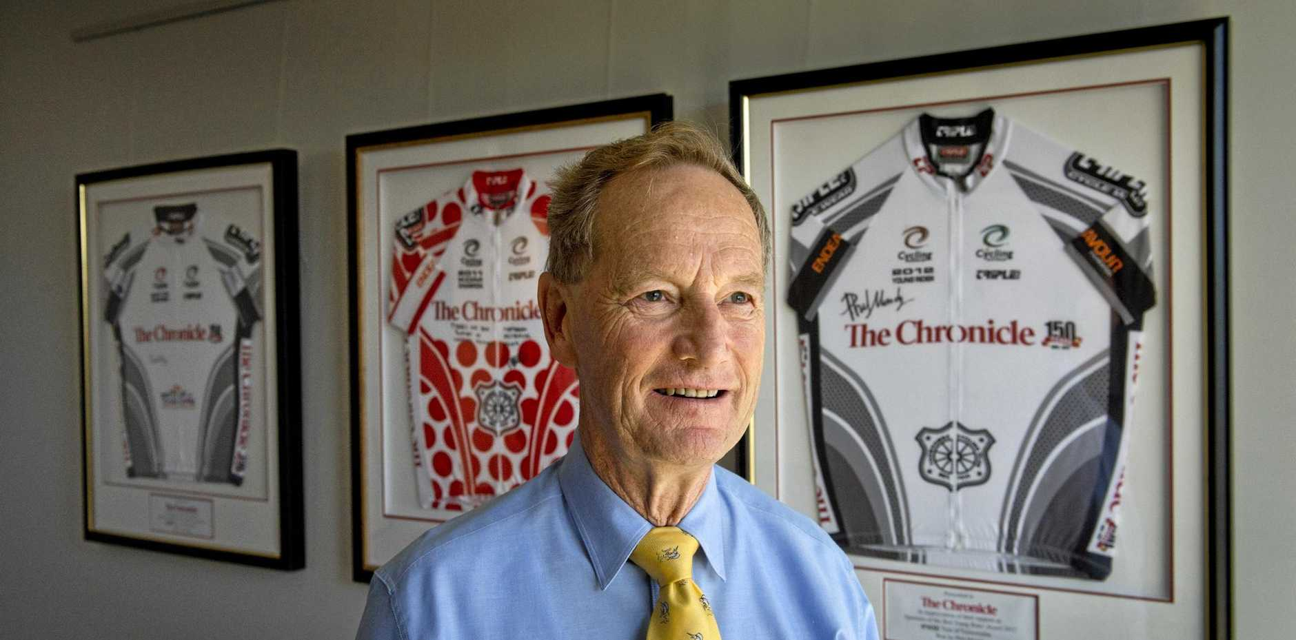 John Osborne's dream of putting Toowoomba on the world cycling map has ended.