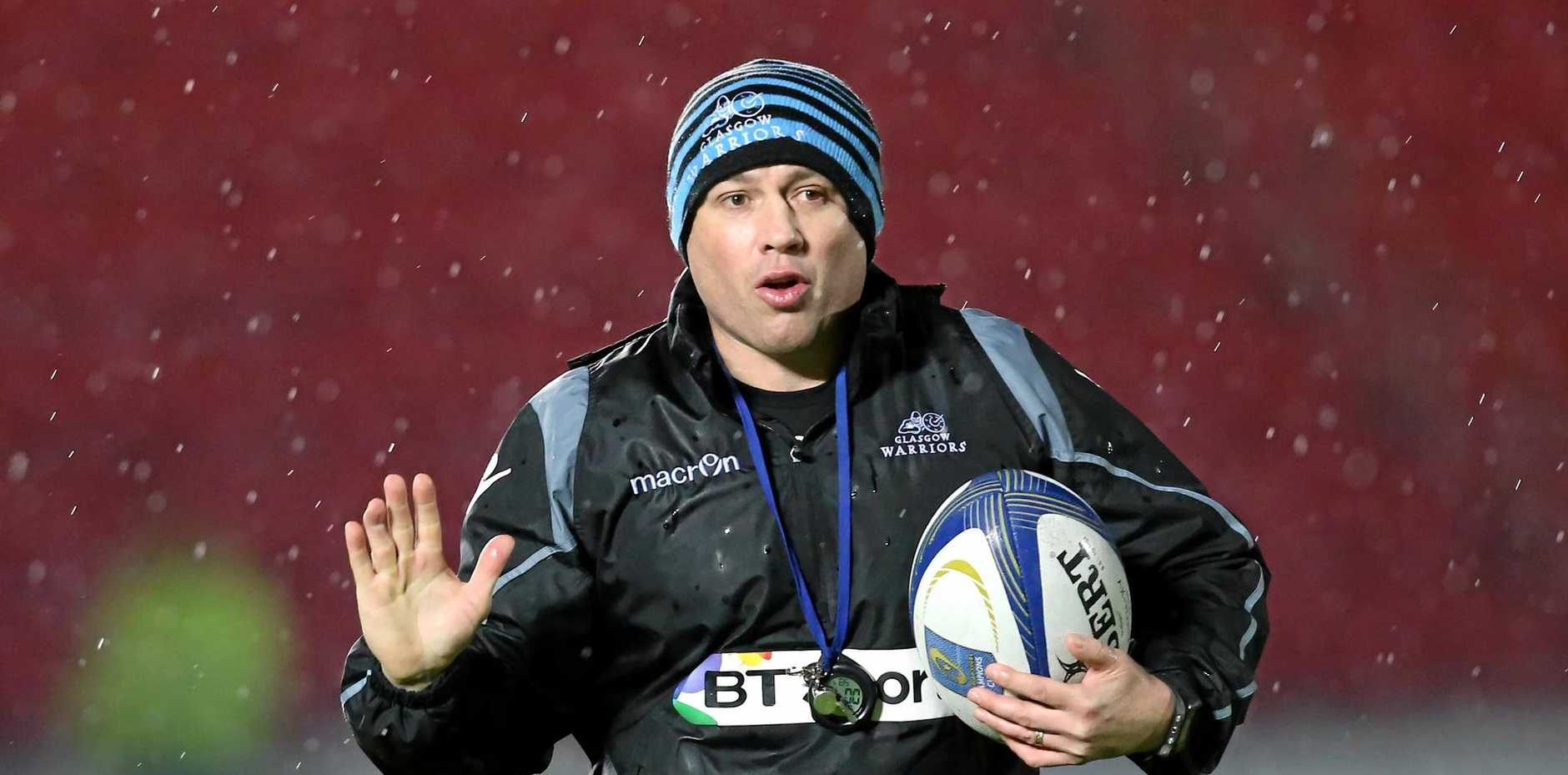 Australian Matt Taylor, the defensive coach of Scotland's rugby team.