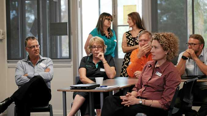 WDRC's Elisha Ham speaks at the work experience workshop at Chinchilla State High School on Tuesday afternoon.