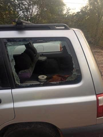 Thieves smashed Harry's car window and stole his tools.