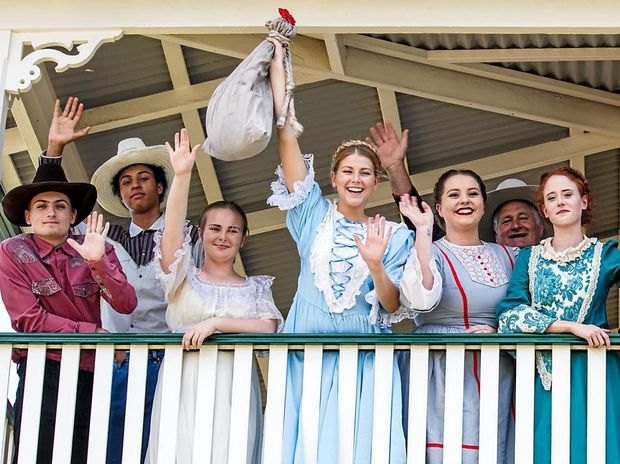 ON STAGE: Some of the cast of Ballina Players' latest production, The Best Little Whorehouse in Texas.
