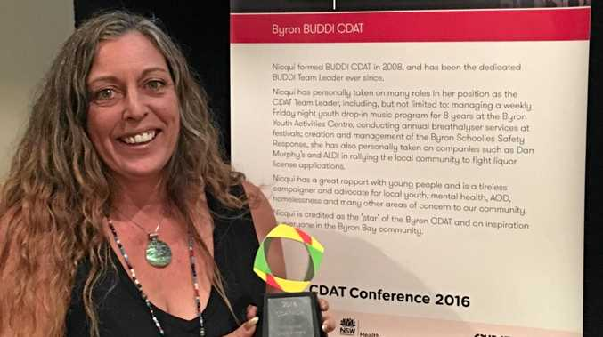 WINNER: Nicqui Yazdi and the BUDDI Community Drug Action Team have won the first ever 2016 Communuity Drug Action Team Award NSW State Influence Award.