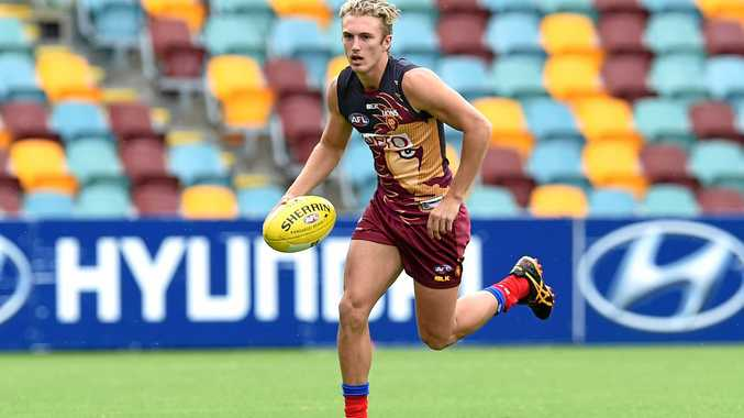 Brisbane Lions player Jaden McGrath runs during training.