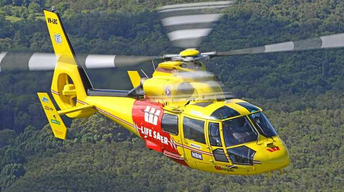 The Westpac Rescue Life Saver Helicopter.