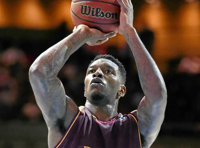 Torrey Craig of the Brisbane Bullets at the free-throw line.