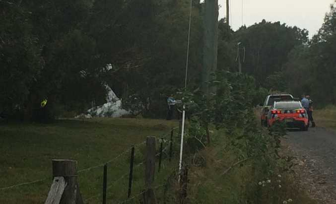 A photo from the scene of a plane crash in Tweed Heads.