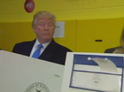 Trump casts his vote in New York.