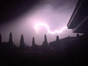 Lightning storm near Grafton