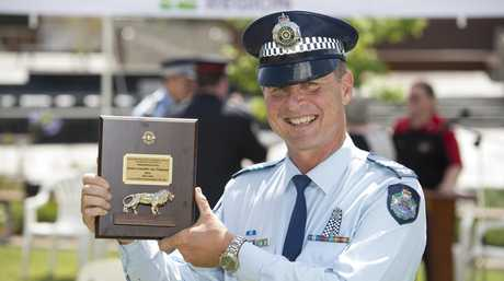 Senior Constable Alex Singleton has been rewarded for his service courtesy of the Toowoomba City Lions Club.