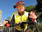 ROAD SAFE: Cyclist John Fitter wants road rules known, obeyed and enforced. He has a camera mounted to his bike helmet for safety. File photo.