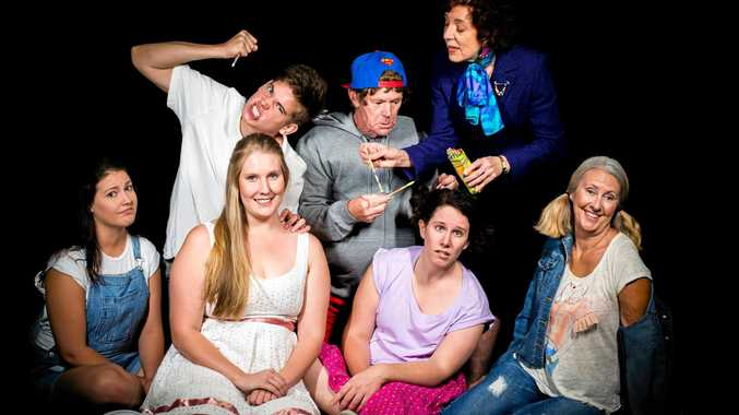 The cast of Lind Lane Theatre's new production, Hating Alison Ashley.