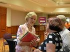 Dame Quentin Bryce speaks to people at a Rockhampton conference on domestic and family violence.