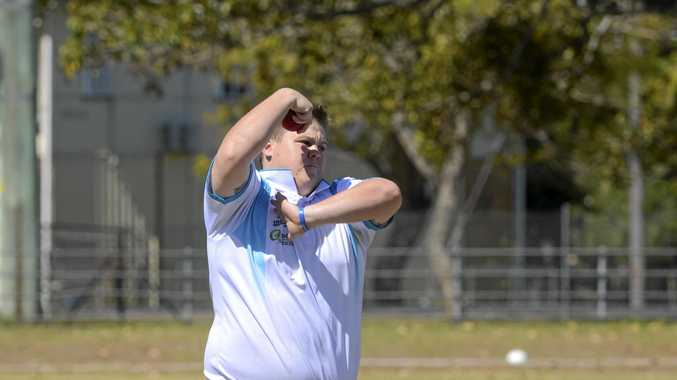 SPUN OUT: Coutts bowler Brenden Cotten.