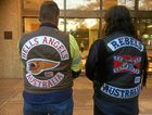 Wearing bikie gang colours in public would be outlawed under proposed new laws.