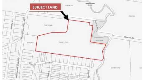 The location of the planned development in Meringandan.