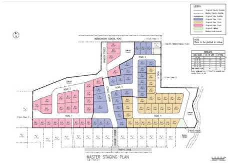 Plans for the new housing development.