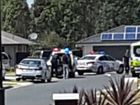 The scene outside a Caboolture home where a man is involved in a standoff with police.