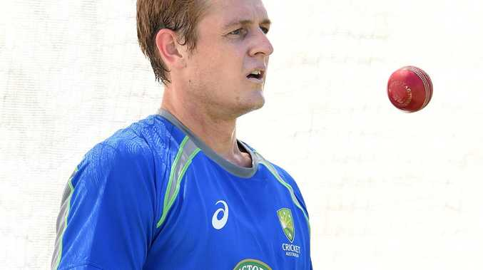 Joe Mennie looks on during the Australian team training session at the Western Australia Cricket Ground (WACA) in Perth, Tuesday, Nov.1, 2016. Australia play South Africa in the first of three Tests on Thursday. (AAP Image/Dave Hunt) NO ARCHIVING