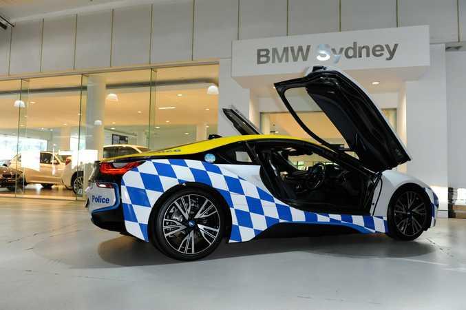 NSW's Rose Bay Police Squad's BMW i8 plug-in hybrid sports car