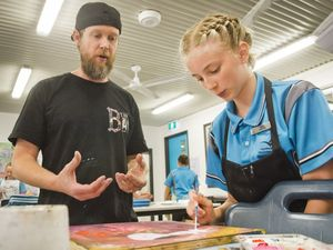 Students brush up on art skills