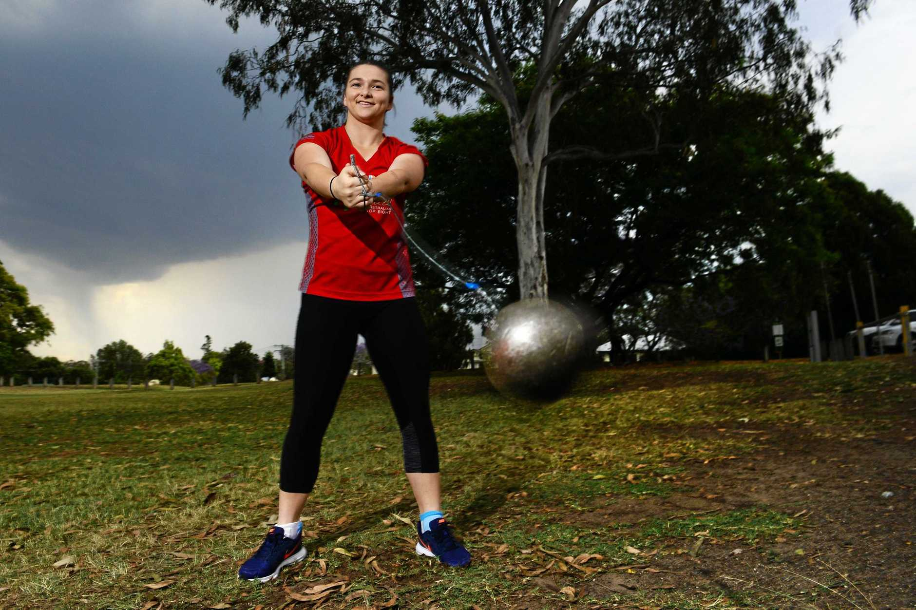 15-year-old Ipswich athlete Rochelle Vidler is setting records against older competitors.