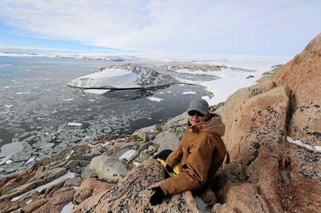 Katie Senekin at Casey Station, Antarctica.