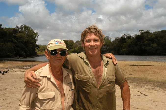 Best mates - Bob Irwin and his son Steve.