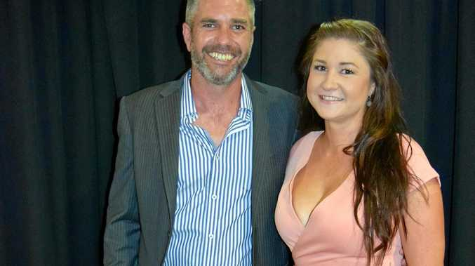 President of the Gympie Chamber of Commerce Ben Riches and Jess Sanderson ready for a good night.