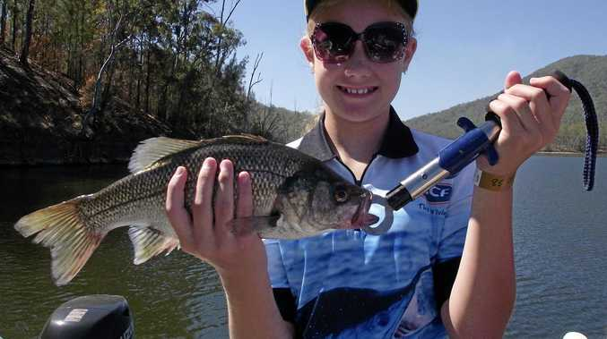 GOTCHA: Tahlia Patterson landed this beauty in last weekend's Mary Valley Fishing Classic.