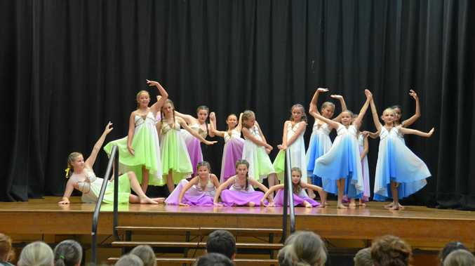 DANCE STARS: Performances during the Rivers Secondary College dance matinee this week.