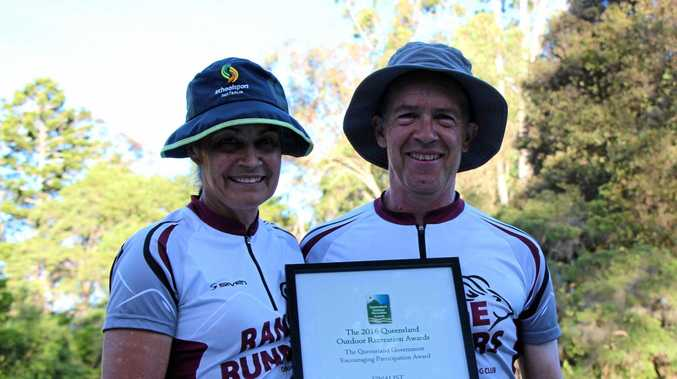 Range Runners Orienteering Club award winner Felicity Crosato with her husband Rob.