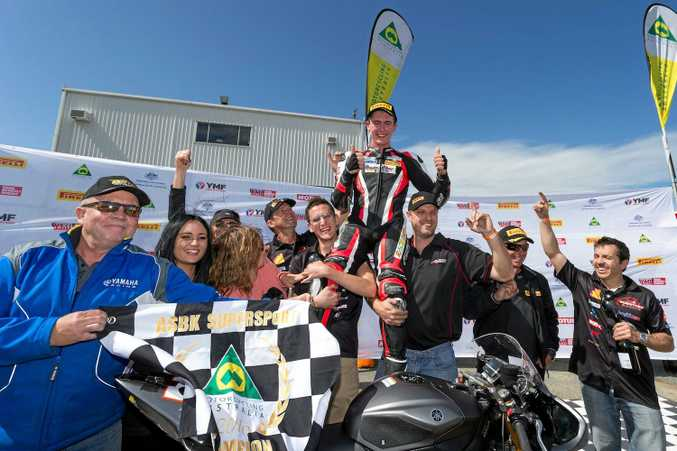CHAMP: Troy Guenther won the supersport title in thrilling fashion.