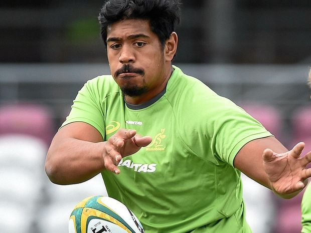 Will Skelton during a Wallabies team training session.