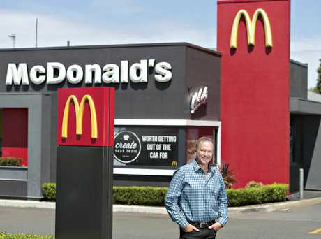 BUSINESS SUCCESS: Mark Ward will own all eight Toowoomba McDonald's restaurants by July next year.