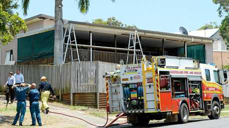 Emergency services respond to reports of a house fire in Tucker Street Yeppoon.