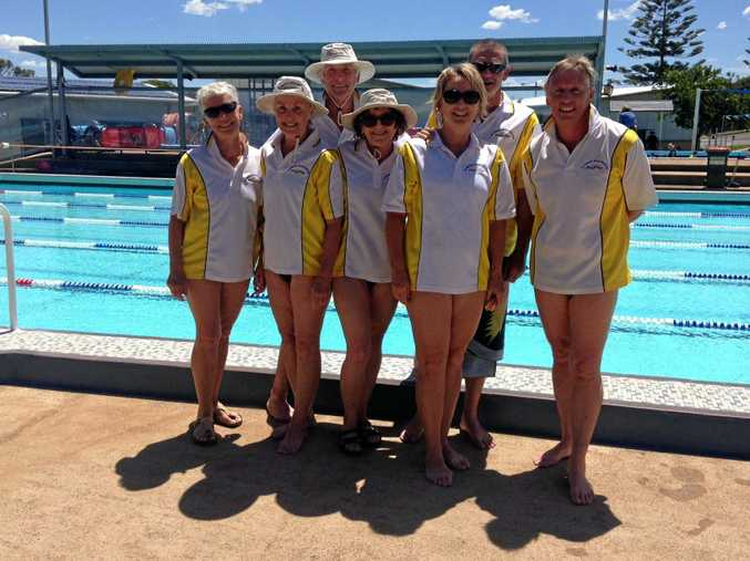 SUPER SEVEN: The Clarence River contingent at the Port Macquarie Masters Carnival.