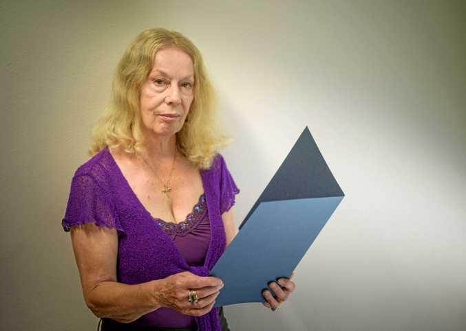 Margaret Hodgson with her mother Thelma's Hidden Treasure award.