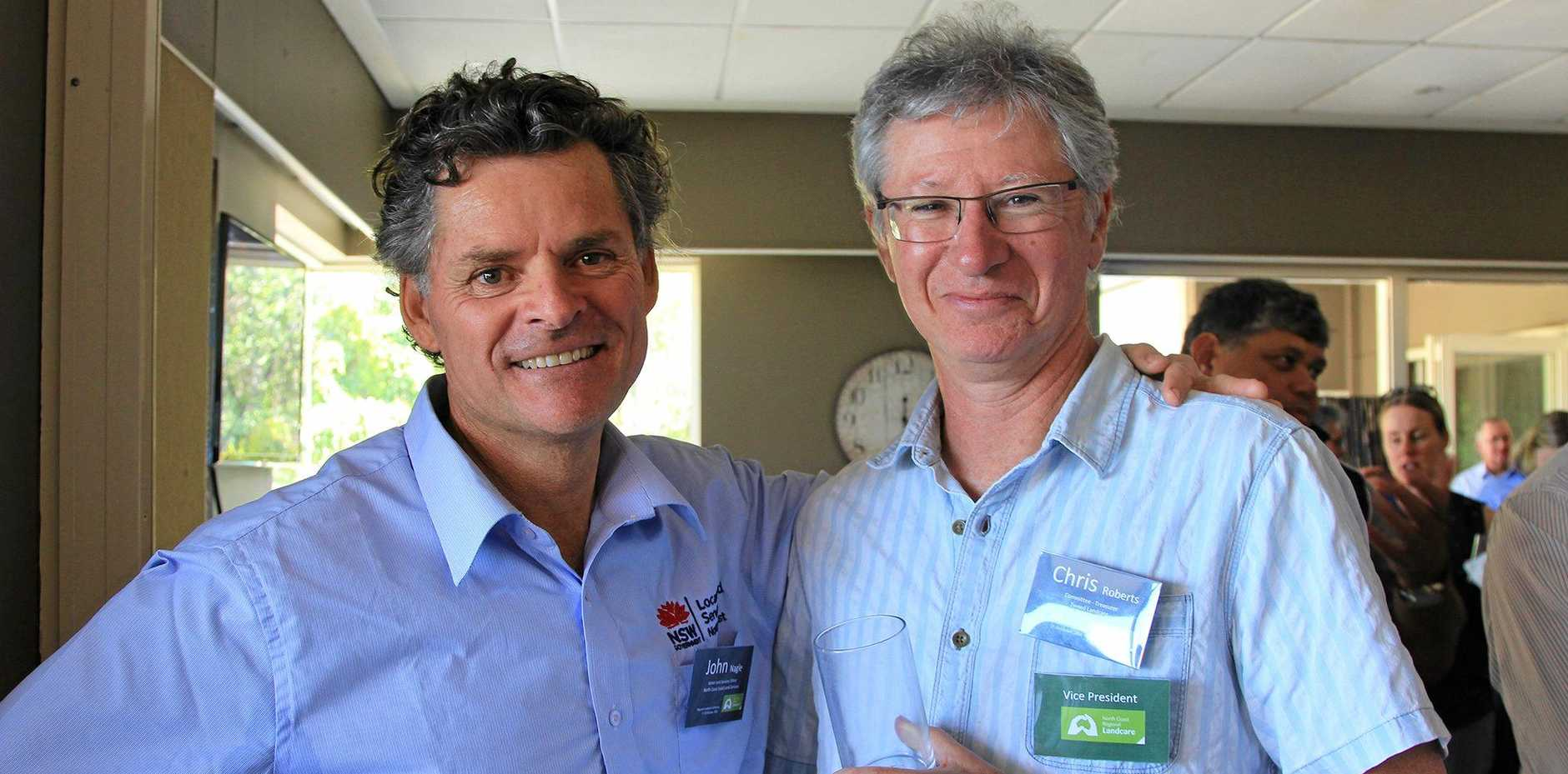 John Nagle from North Coast Local Land Services and Chris Roberts from Tweed Landcare. The North Coast Local Land Services and North Coast Regional Landcare partnership is achieving real results for the community and environment.