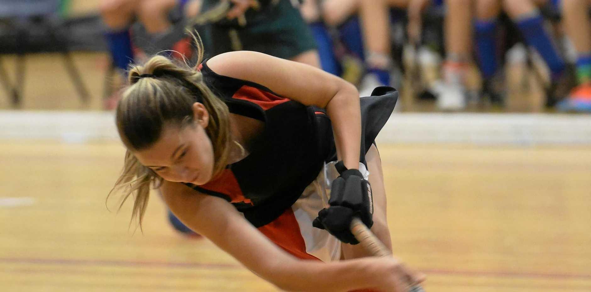 HOT SHOT: Rockhampton's Ebonee Moffat has been named in the Queensland under-15 girls indoor hockey team.