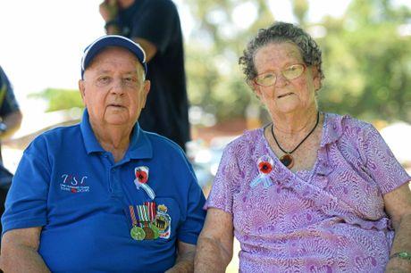 Rockhampton Remembrance Day Service. Bob and Fay Leicht.