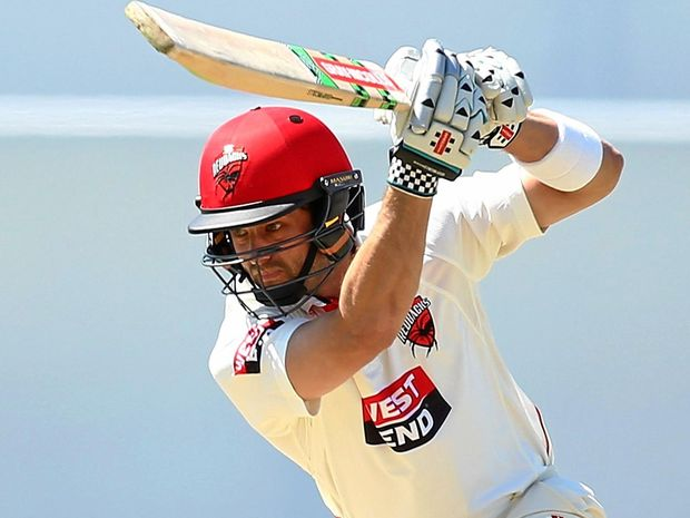 Callum Ferguson of the Redbacks bats during day two of the Sheffield Shield match against Western Australia at the WACA.