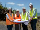 STATUE BAY: Keppel MP Brittany Lauga, Capricornia MP Michelle Landry, Mayor Bill Ludwig and Cr Graham Scott look over plans for the upgrade to the Scenic Hwy.