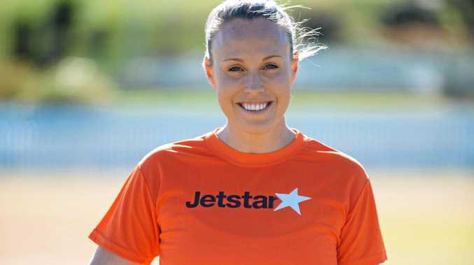 BIG HERO: netballer Kimberlee Green will meet with the lucky winners of a Little Athletics competition to find