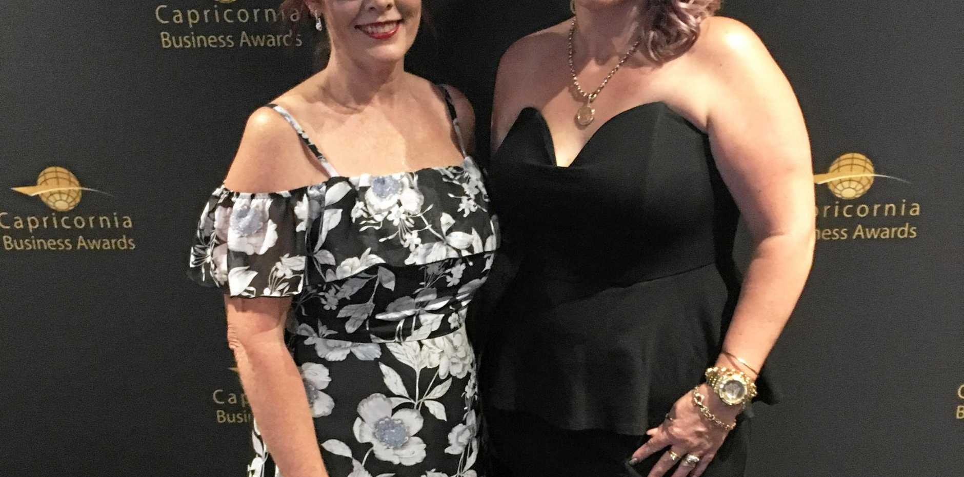 Capricornia Business Awards 2016 Best Business of the Year award winners Kathy McCosker and Hayley Riley of Headstart Salon Hair, Beauty, Nails.