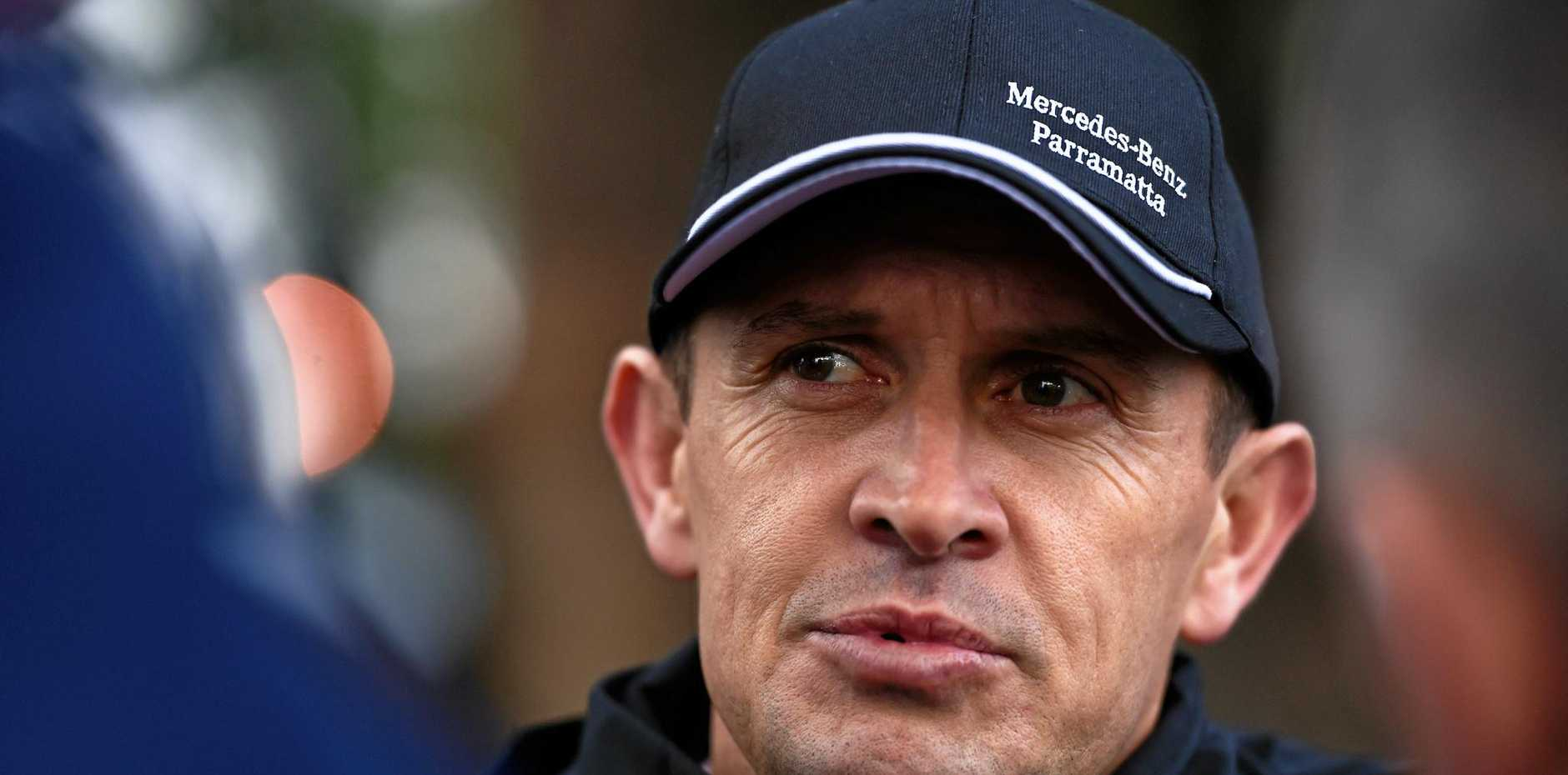 Trainer Chris Waller during trackwork at The Valley ahead of the Cox Plate in Melbourne in October.