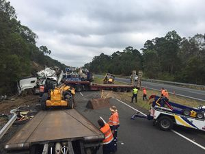 Truck driver escapes injury in serious Bruce Hwy crash
