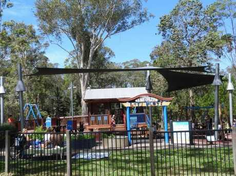 Pioneer Park, Landsborough, was targeted by thieves overnight.