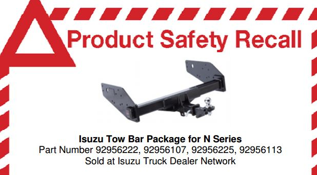 Incorrect bolts used to install tow bar packages on the Isuzu N Series truck have prompted a product recall.