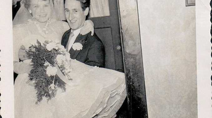 Jacobus (Jack) and Maria (Mary) Van Lammeren-Aka on their wedding day in 1956.