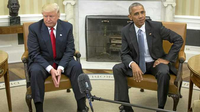 NO FRIEND OF MINE: The body language told the story when President-elect Donald Trump met Barack Obama for the first time.